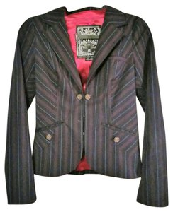 Guess Pinstripe Machine Washable black Blazer