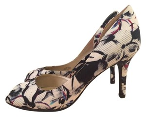 Unisa Peep Toe Floral Pump Watercolor Pumps