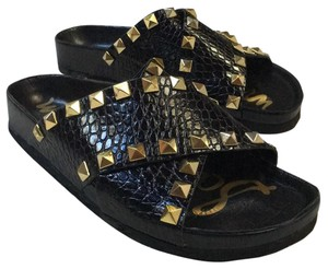 Sam Edelman Black with gold studs Sandals