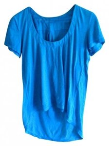 Monrow Soft Flowy T Shirt blue
