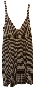 Ella Moss short dress Brown/Oatmeal Stripe Knit on Tradesy