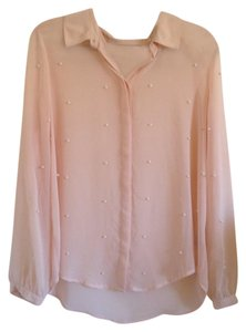 LC Lauren Conrad Button Down Shirt Blush