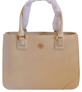 Tory Burch Shoulder Tote in Toasted Wheat