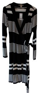 Banana Republic Wrap Striped & Work Dress