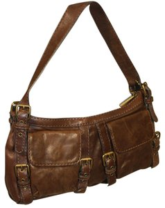 Kooba Classic Leather Buckles Shoulder Bag