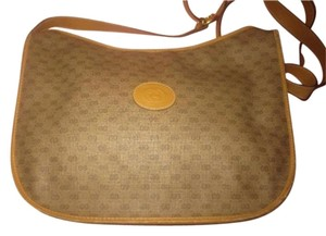 Gucci Vintage Small G Logo Print Large Size Excellent Condition Hobo Bag