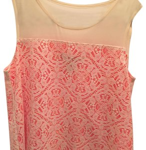 Marc by Marc Jacobs Top Orange with off white lace over lay