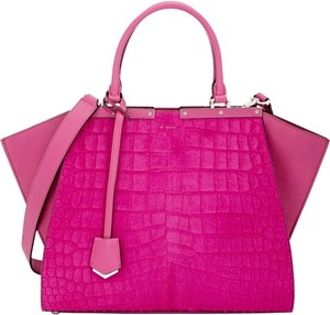 Fendi Blue 3jours Satchel in pink