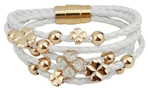 CasaDiBling Lady Luck Leather 4 leaf clover bracelet, Swarovski elements