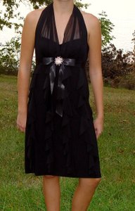 Betsy & Adam Black Ba1832 Dress