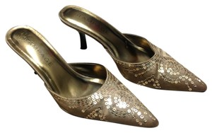 Rampage Antique gold Mules
