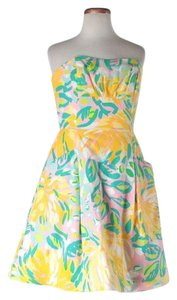 Lilly Pulitzer short dress Multi Nwt Summer Strapless Floral on Tradesy