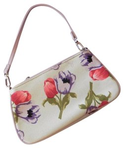 Lulu Guinness Floral Canvas Guiness Shoulder Bag