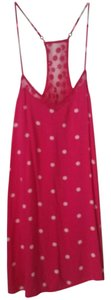 Hollister short dress Pink with white poka dots Halter Soft on Tradesy