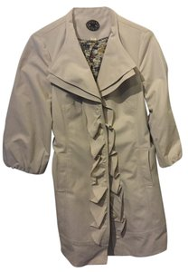 Anthropologie Ruffle Trench Coat