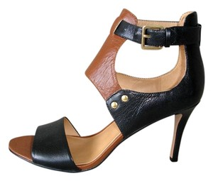 Nine West Gladiator Camel black and brown Sandals