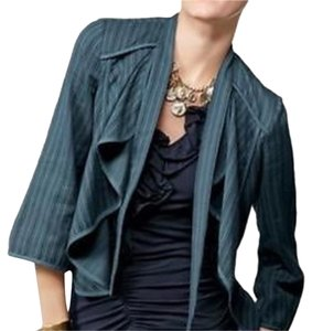 CAbi Cascading Layering Cotton Blue Jacket