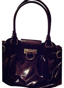 Salvatore Ferragamo Patent Leather Patent Leather Shoulder Bag