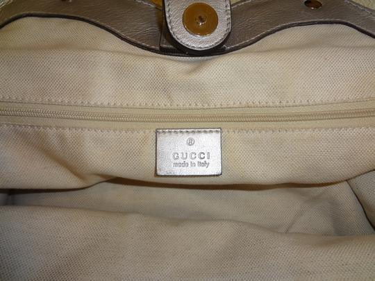Gucci Guccissima Sukey Leather Tote in Silver