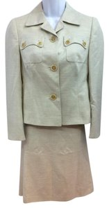 Akris AKRIS LIGHT GREEN CASHMERE BLEND SKIRT SUIT US 4 F 36