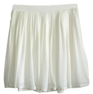 Joie Silk Pleated Pleated White White Mini Skirt off white