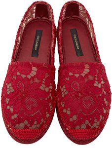 Dolce&Gabbana Espadrilles Lace Red Flats