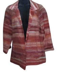 Chico's Watercolor Abstract Linen Multicolored Jacket