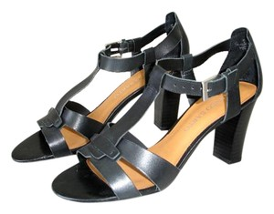 Franco Sarto Chunky Heels Comfortable Wooden black Sandals