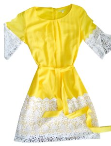 Gianni Bini short dress yellow Brand New on Tradesy