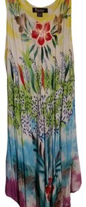 Pams collection short dress Multi Summer Soft Floral Flowy on Tradesy