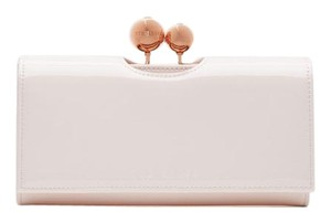 dd54647658bf3e Ted Baker New Ted Baker Patent Leather Crystal Odd Bobble Matinee  Continental Baby Pink Wallet