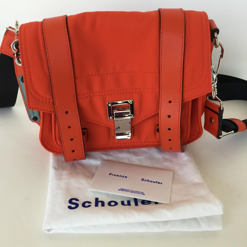 Proenza Schouler Ps1 Pouch Fire Red Nylon Leather Cross Body Bag Tradesy