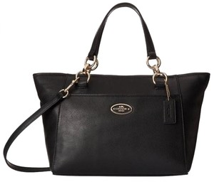 Coach Kelesy Ellis Satchel in Gold Black