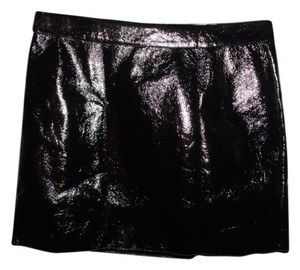 Guess Vegan Gothic Punk Sexy Mini Skirt Black
