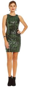 Badgley Mischka Fashion Shimmer Sequin Party Dress