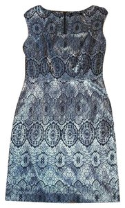 Ellen Tracy Silver Lace Dress