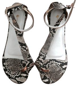 Paula Torres Gold And Snake Sandals