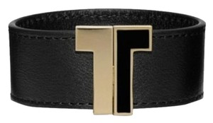 Tory Burch NWT TORY BURCH SPLIT T BRACELET W DUST BAG BLACK GOLD