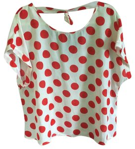 Forever 21 Top Polka dot, red
