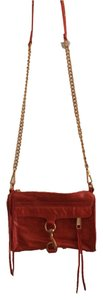 Rebecca Minkoff Gold Hardware Adjustable Strap Printed Lining Shoulder Bag