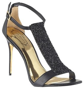 Ted Baker Heels Beaded Party Black Sandals