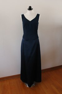 Blue Polyester/Nylon 816 Traditional Bridesmaid/Mob Dress Size 14 (L)