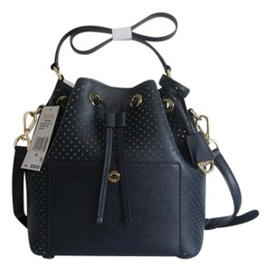 Michael Kors Greenwich Bucket Perforated Shoulder Bag