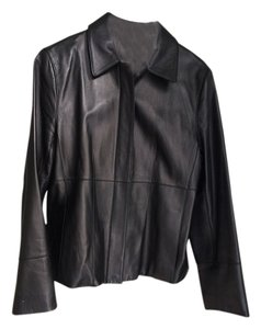 Ann Taylor Dark Chocolate Brown Leather Jacket
