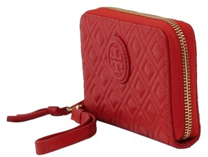 Tory Burch Marion Quilted Leather Smartphone Wristlet, Red