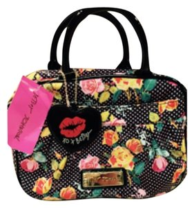Betsey Johnson Satchel in Multi Polka Dots And Flowers