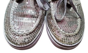 Sperry Top Sider Sequins Silver Flats