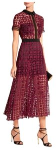 Burgundy Maxi Dress by self-portrait