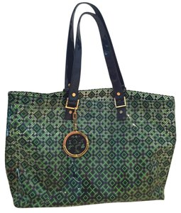 Tory Burch Tote in Green And Blue