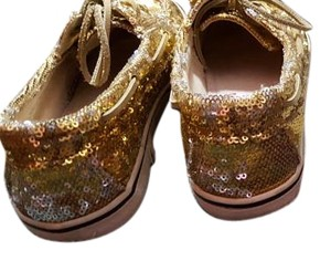 Steve Madden Boat Sparkly Yacht Gold Flats